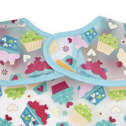 Koala Baby Girls 2 Pack Cupcake EZ Wipe Bibs