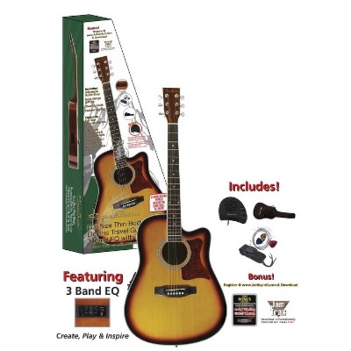 Spectrum Thin Body Acoustic Electric Guitar - Brown (AIL 261AE)