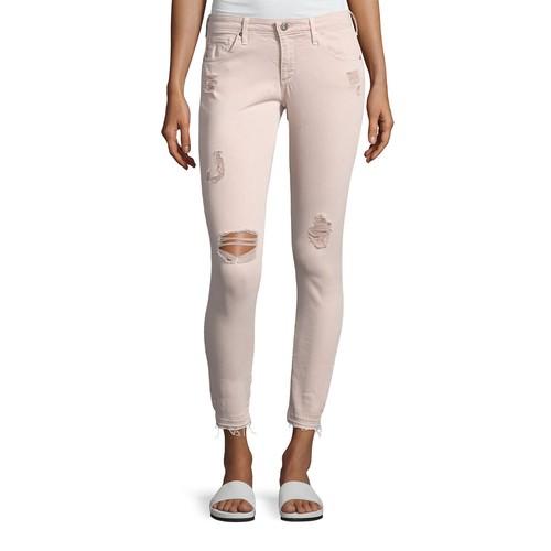 AG Farrah Skinny Ankle Interstellar Worn Sandalwood Jeans, Khaki