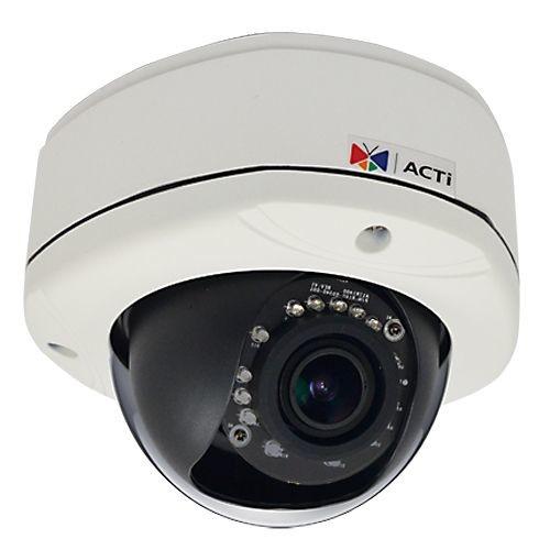 ACTI E84A - Network surveillance camera - dome - outdoor - vandal / weatherproof - color ( Day&Night ) - 2 MP - 1920 x 1080 - fixed iris - vari-focal - audio - 10/100 - MJPEG, H.264 - PoE (E84A)