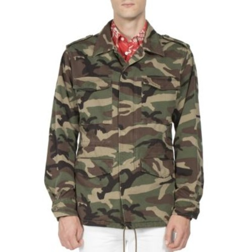 SAINT LAURENT Camouflage Print Jacket