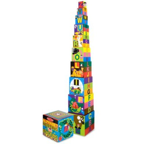 Melissa and Doug Alphabet Nesting and Stacking Blocks
