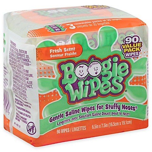Boogie Wipes 3-Pack 30-Count Saline Wipes in Fresh Scent