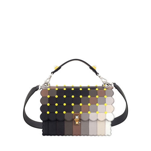FENDI Kan I Square Marquetry Shoulder Bag