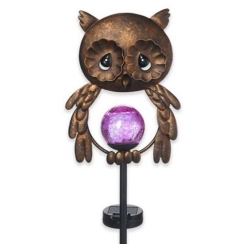 Precious Moments Owl Solar Garden Stake