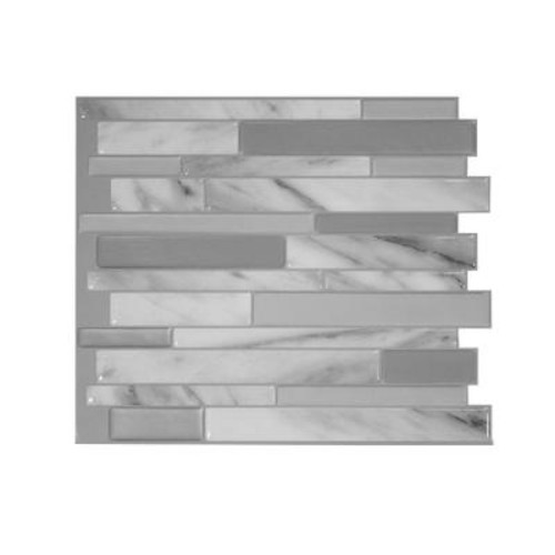 Smart Tiles Milano Carrera 11.55 in. W x 9.65 in. H Peel and Stick Decorative Mosaic Wall Tile Backsplash (12-Pack)