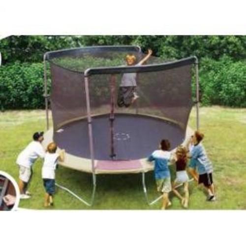 SKYBOUND 12' Enclosure Trampoline Net Using 2 Arches