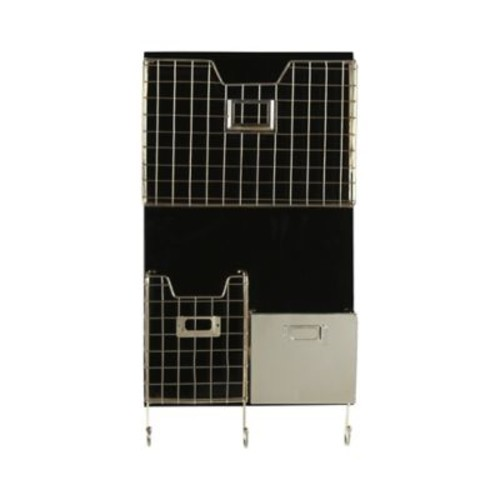 Kate and Laurel Nicholas Wall Organizer in Black/Silver