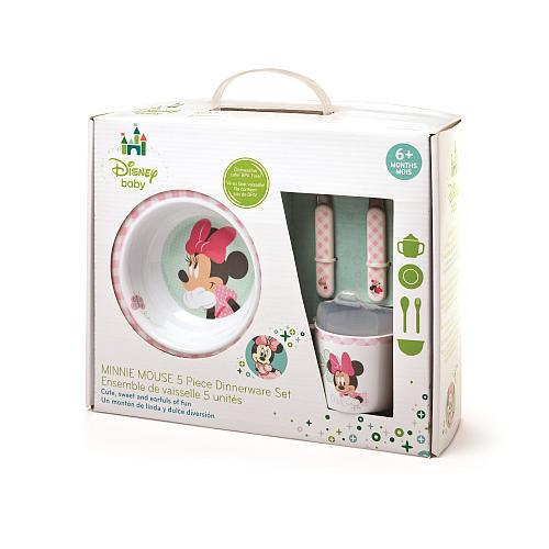 Minnie Mouse 5 Piece Melamine Set - Girls