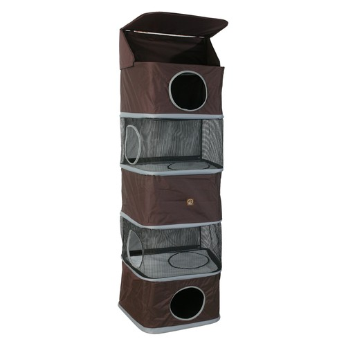 One for Pets 5-Storey All in One Portable Cat Activity Tower, Brown : Cat Houses And Condos : Pet Supplies [Brown, 70]