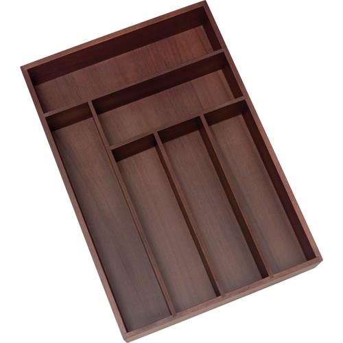 Lipper Acacia Deep Flatware Organizer, Walnut Finish, 6 Compartments