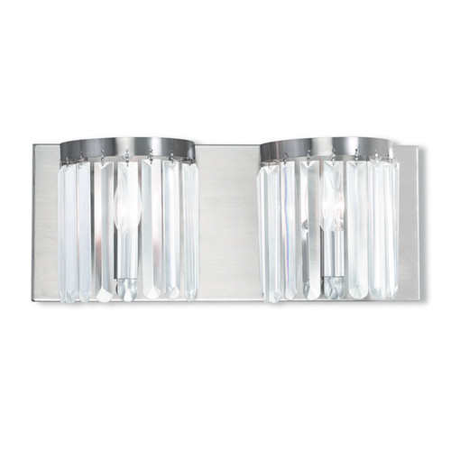 Livex Lighting Ashton Brushed Nickel 2-light Bath Vanity - Brushed nickel