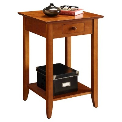 American Heritage End Table - Cherry (Medium) - Convenience Concepts