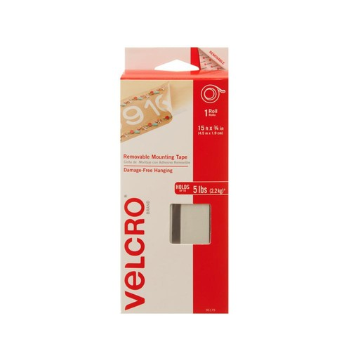 VELCRO Brand 15 ft. x 3/4 in. Removable Mounting Tape