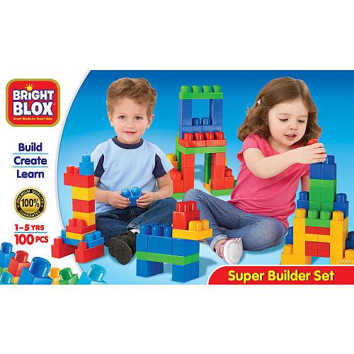 Cra-Z-Art Bright Blox Super Builder Blocks 100 Pieces