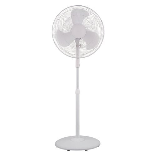 Pelonis Fan Pedestal 18 In. Oscillating 3 Speed White