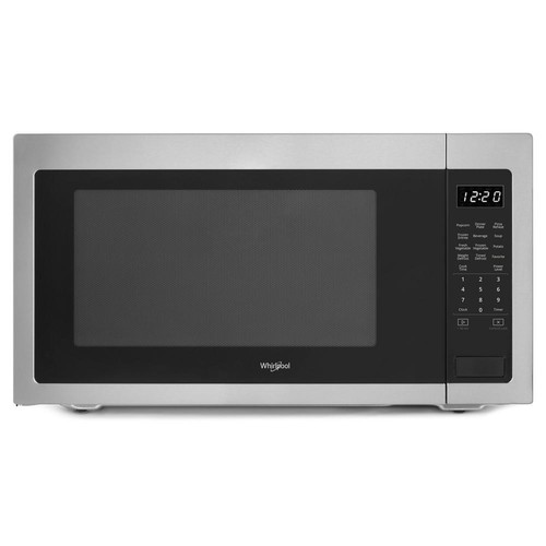 Whirlpool 2.2 cu. ft. Countertop Microwave in Fingerprint Resistant Stainless Steel with Greater Capacity
