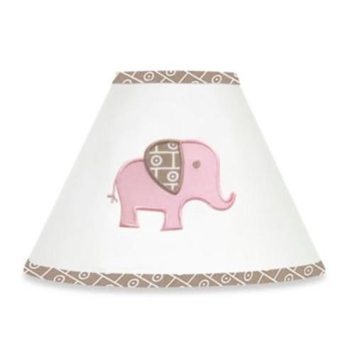 Sweet Jojo Designs Mod Elephant Lamp Shade in Pink/Taupe