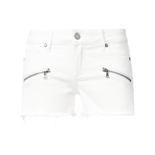 PAIGE Zipped Pockets Denim Shorts