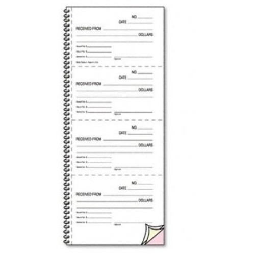 Rediform 23L117 Money and Rent Unnumbered Receipt Book, 5 1/2 x 2 3/4, Two-Part, 500 Sets/Book