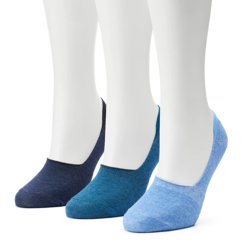 Women's SONOMA Goods for Life 3-pk. Low-Cut Non-Slip Liner Socks