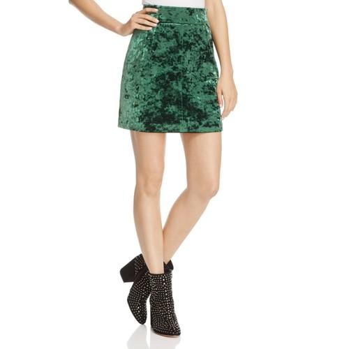 SANDRO Marylou Velvet Skirt