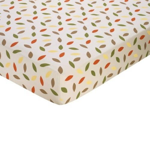 Sweet Jojo Designs Forest Friends Fitted Crib Sheet - Leaf Print
