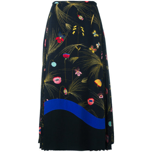 FENDI Printed Cady Mid-Length Skirt