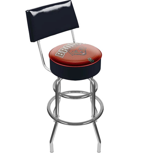 Brown Bears Padded Swivel Bar Stool with Back