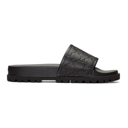 GUCCI Black Pursuit Trek Slide Sandals