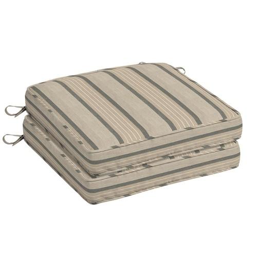 Home Decorators Collection Sunbrella Cove Pebble Square Outdoor Seat Cushion (2-Pack)