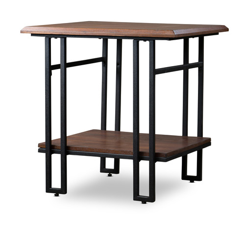 Baxton Studio Newcastle Wood and Metal End Table