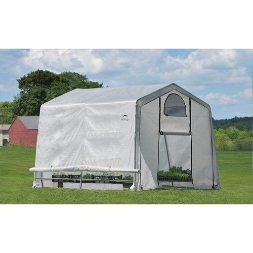 GrowIt Greenhouse-In-A-Box Easy Flow Greenhouse Peak-Style, 10' x 10' x 8'