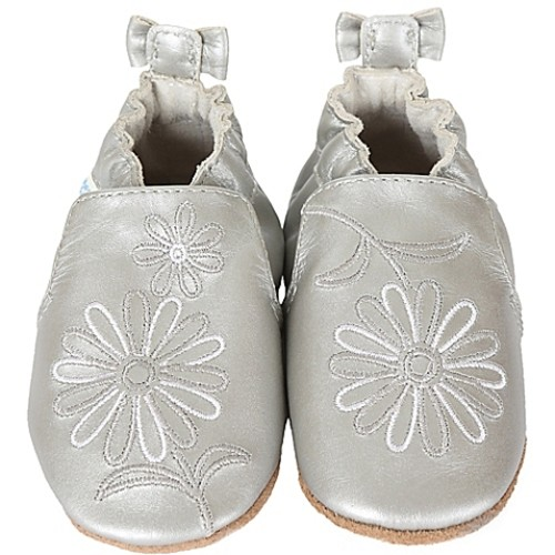 Robeez Size 12-18M Metallic Mist Shoe in Silver
