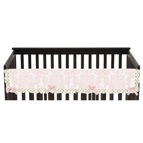 Sweet Jojo Designs Amelia Collection Long Crib Rail Guard Cover