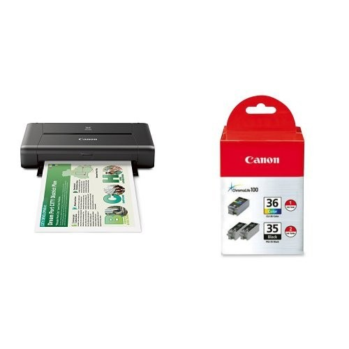 CANON PIXMA iP110 Wireless Mobile Printer and Ink Bundle [Printer and Ink Bundle]