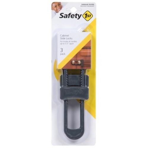 Safety 1st Cabinet Slide Lock - Gray (3 pack)