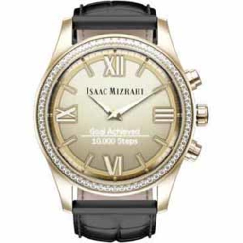 HP Isaac Mizrahi Gold Smartwatch - Black Strap