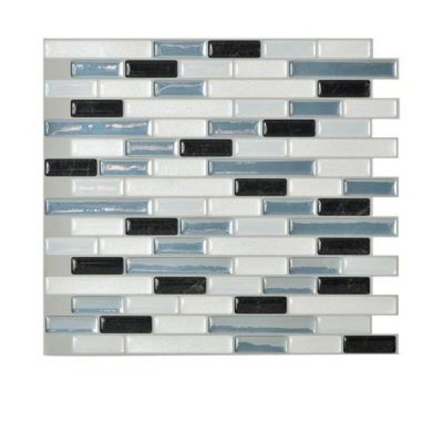 Smart Tiles Muretto Brina 10.20 in. W x 9.10 in. H Peel and Stick Self-Adhesive Decorative Mosaic Wall Tile Backsplash (12-Pack)