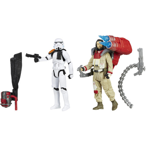 Star Wars: Rogue One 2 Pack 6 inch Action Figure - Baze Malbus VS. Imperial Stormtrooper
