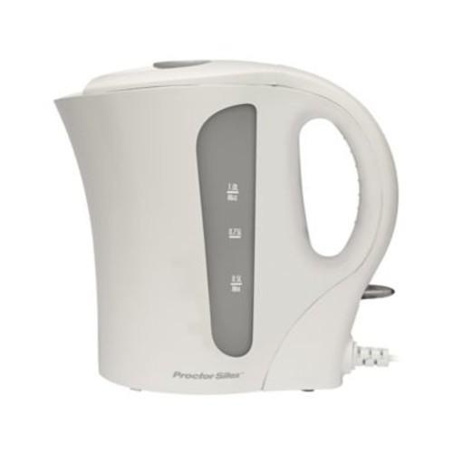 Proctor-Silex Electric Tea Kettle; White