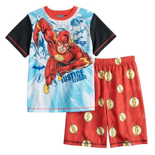 Boys 4-12 Justice League The Flash 2-Piece Pajama Set