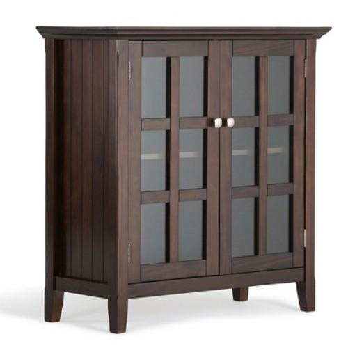 Acadian Low Storage Cabinet - Tobacco Brown - Simpli Home