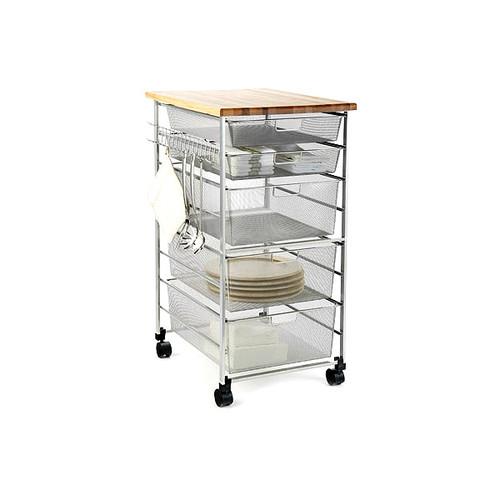 Platinum elfa Mesh Kitchen Cart