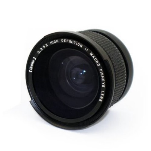 Opteka .35x HDA Super Wide Angle Panoramic Macro Fisheye Lens for Canon VIXIA HV30, HG10, & HV20 Digital Camcorders