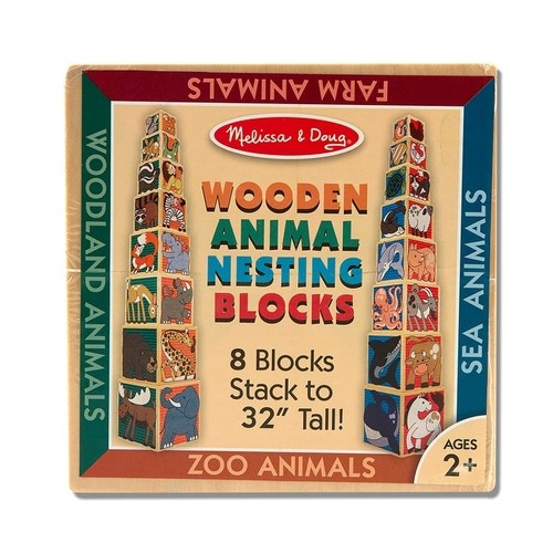 Melissa & Doug Building Blocks & Sets Wooden Animal Nesting Blocks