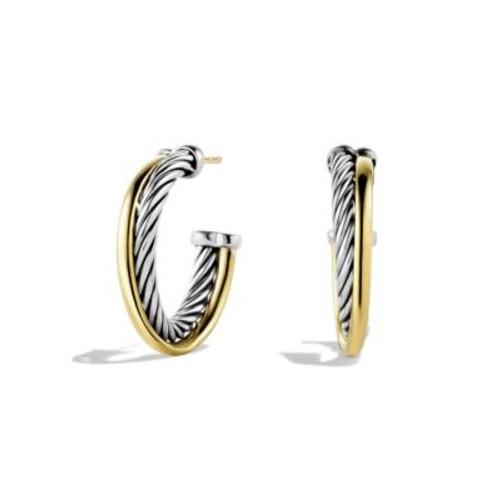 Crossover Small Hoop Earrings in G