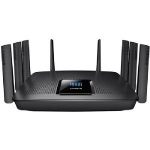 Linksys Tri-Band Wireless-AC5000 MAX-STREAM MU-MIMO Gigabit Router - 8x Gigabit Ethernet LAN, 1x USB 3.0, 802.11ac Wi-Fi Network Standard, Up to 5000 Mbps Wi-Fi Data Throughput, Black - EA9400