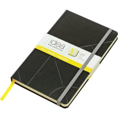 Idea Collective Large Hardbound Journal, Wide Rule, Black