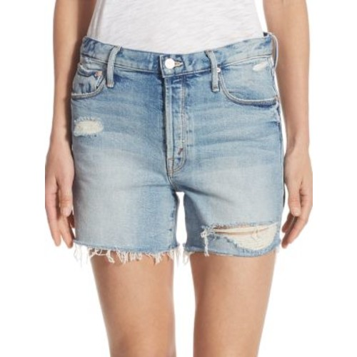 MOTHER Proper High Rise Distressed Shorts